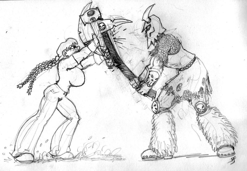 Hammer Lass Tomb Guardian Clash by Rottgiest69