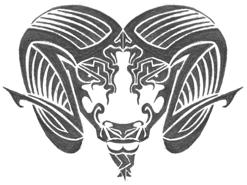tribal ram design by icedrgn027