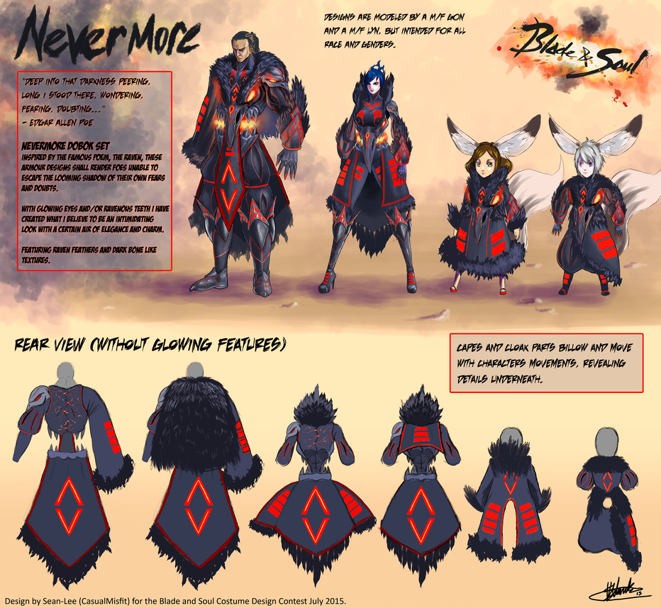 Nevermore (Blade and Soul Costume Design Contest) by Casualmisfit