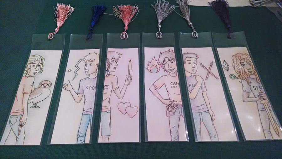 Heroes of Olympus Bookmarks by Marlin-Rae