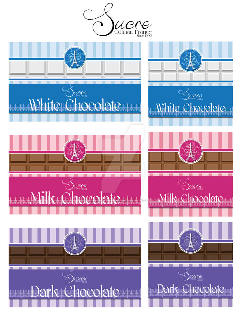 Sucre - Chocolate Labels by MonicaJohnson0647