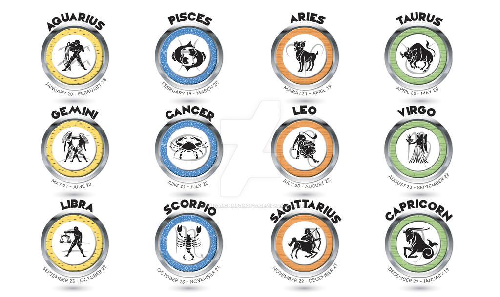 Zodiac Symbols by MonicaJohnson0647