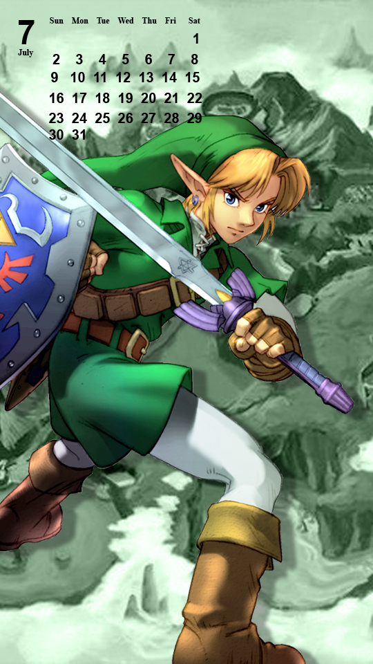 OoT Link: Green Tunic - Phone Background by MonicaJohnson0647