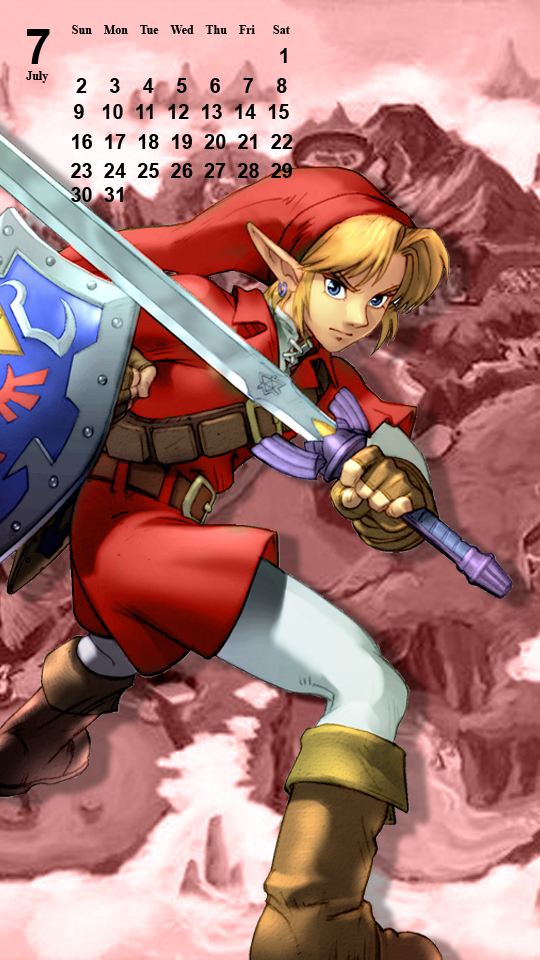 OoT Link: Red Tunic - Phone Background by MonicaJohnson0647