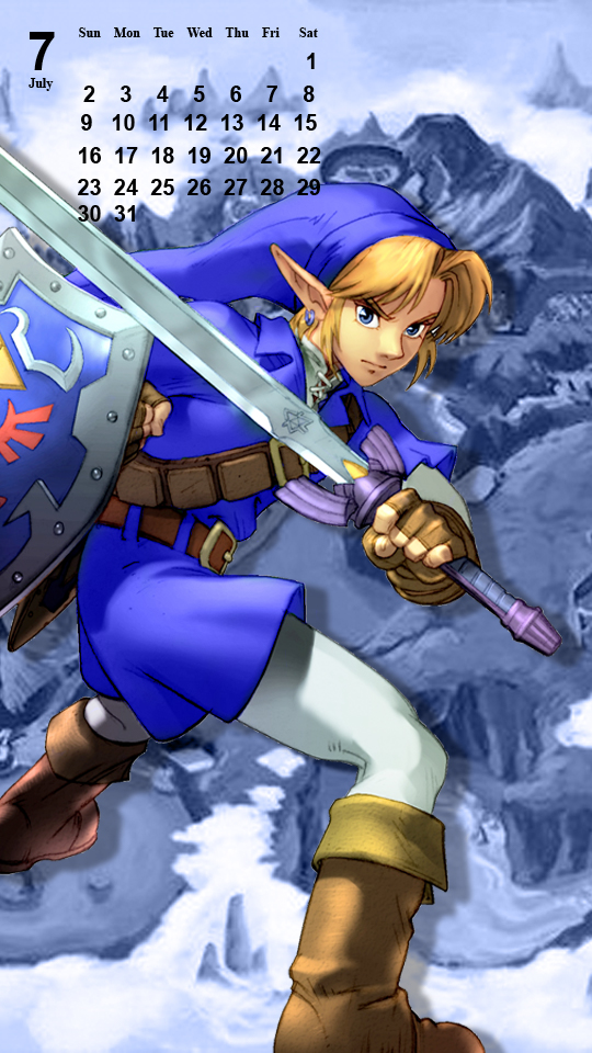 OoT Link: Blue Tunic - Phone Background by MonicaJohnson0647