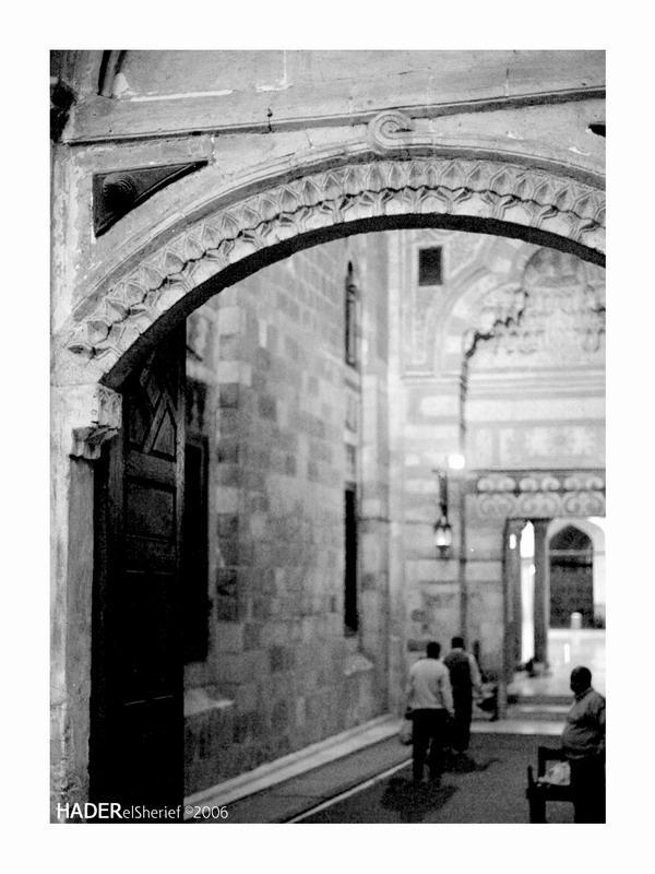 Al Azhar Mosque BW by mounirian128