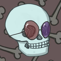 Skull with cool glasses