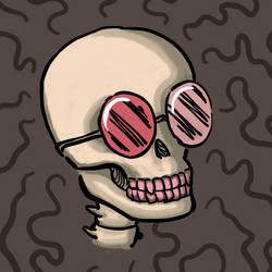 Skull with cool glasses v2