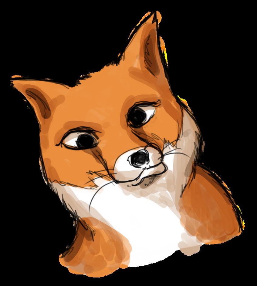 Goofy fox by astamite