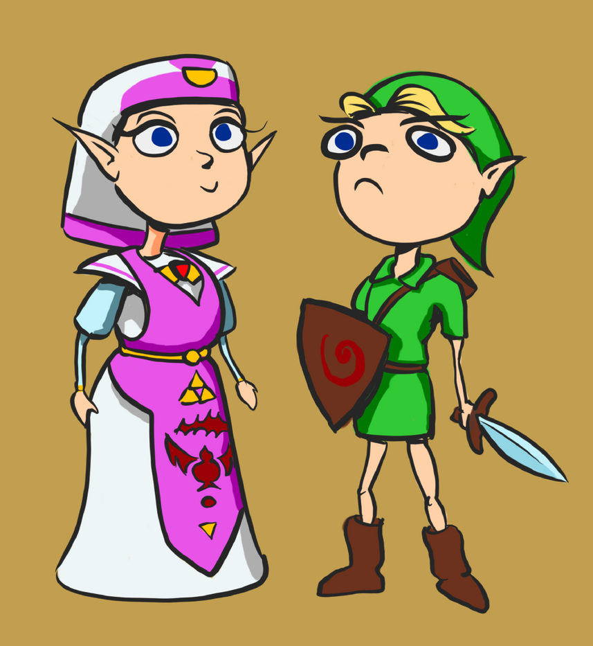 Legend-princess and Time-hero by astamite