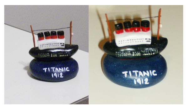 Polymer clay - Titanic by SarahRose