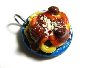 Spaghetti Plate Charm