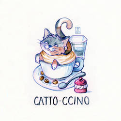 Catto-ccino by Hardrockangel