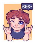 666 Followers Alt by Hardrockangel