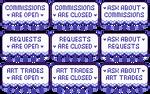 Art Status Buttons