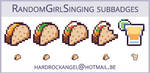 RandomGirl Subbadges Sample by Hardrockangel