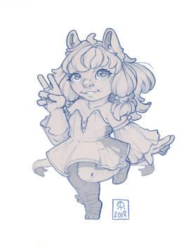 Chibi Bunny - [ Sketch ]