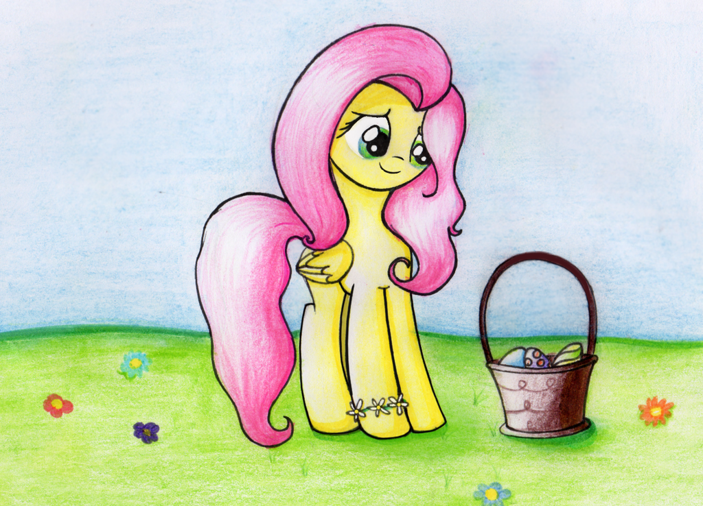 Easter Morning With Fluttershy by SongbirdSerenade