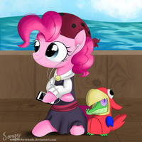 Pirate Pinkie and her Patient Parrot by SongbirdSerenade