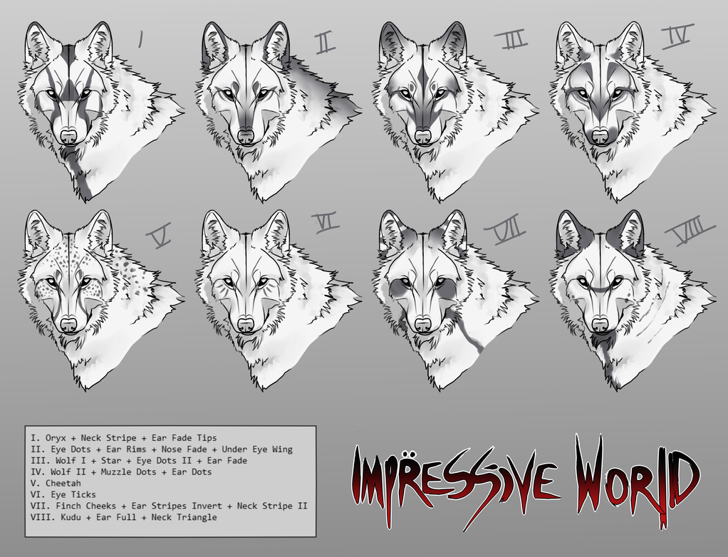 [Impressive World] Canine Facial Marking Concepts by soft-syl
