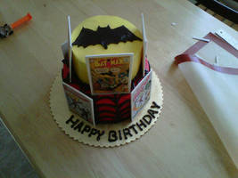 Batman Spiderman Birthday Cake by Cupcake-Killer