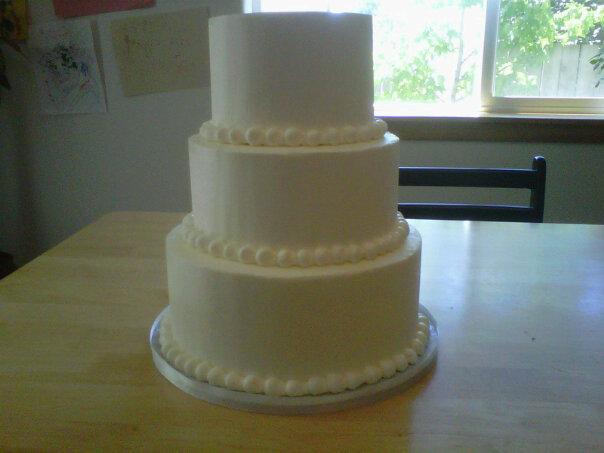 Plain ol white wedding cake by Cupcake-Killer on DeviantArt