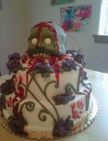 Zombie Baby babyshower cake by Cupcake-Killer
