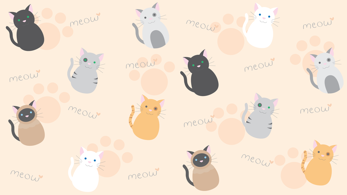 Kawaii Kitty Wallpaper By Technicolorblackout