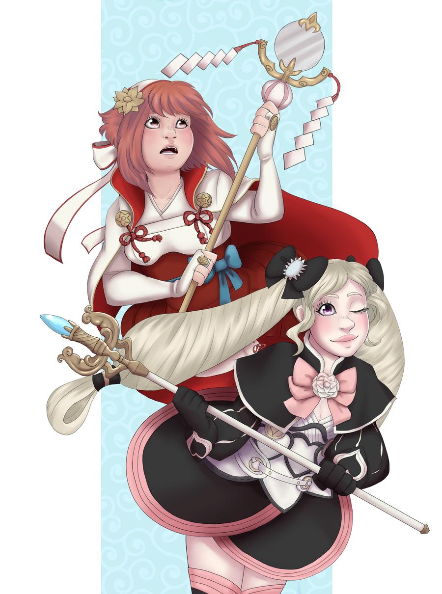 Sakura and Elise - Duet | Fire emblem, Fire emblem