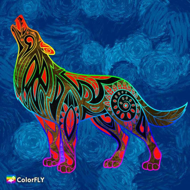 A Howling Wolf  by Faith4155