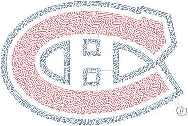 Montreal Canadiens Logo TSP Art by trandoductin
