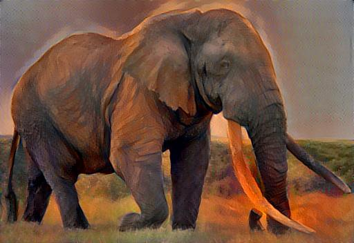 N F Elephant 2 Elephant Sunset by tra...