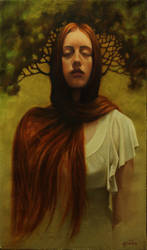 Diary of Dreams oil on linen 85cm x 50cm by graemeb