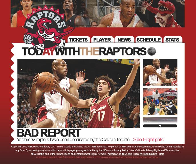 Hall Of Fame WebDesign_Toronto_Raptors_by_Buldoz