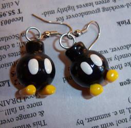 Bombomb Earrings by soupisgreen