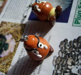 Goomba Earrings by soupisgreen