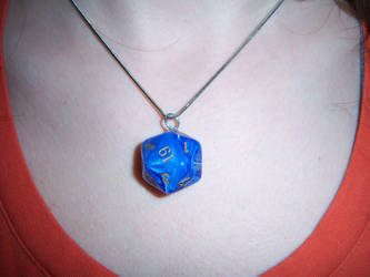 Blue D20 Pendant by soupisgreen