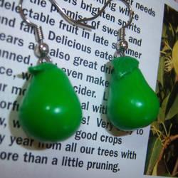 Pear Earrings by soupisgreen