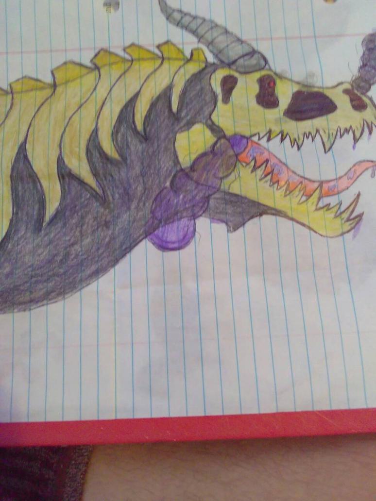 Skeletal Dragon by JacoBaryonyx