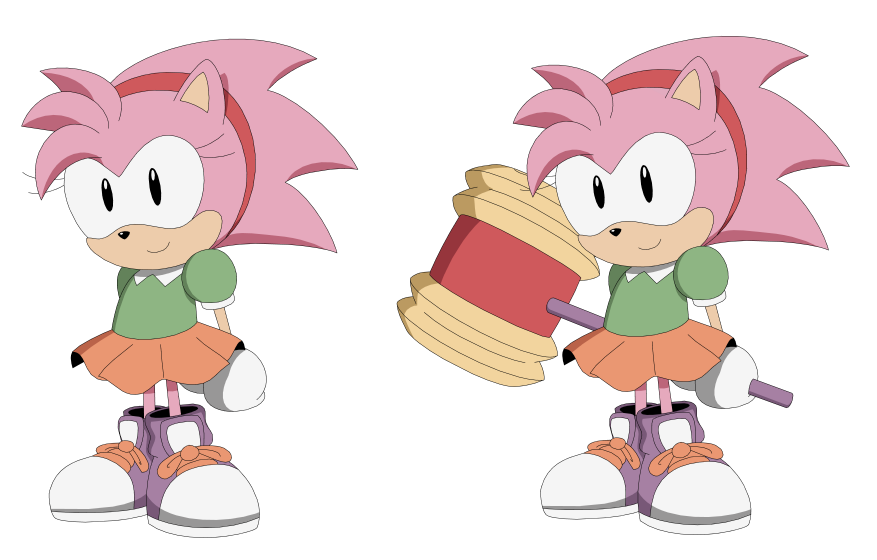 Classic Amy Rose by AMTModollas