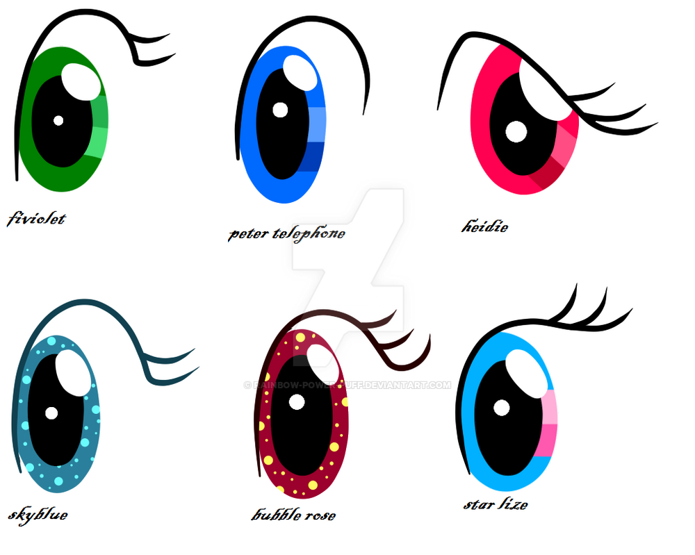MLP oc: ojos de mis ocs by Rainbow Power Puff on DeviantArt - Cool Hairstyles For Girls