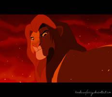 Simba - The Final Battle by toodamnfancy