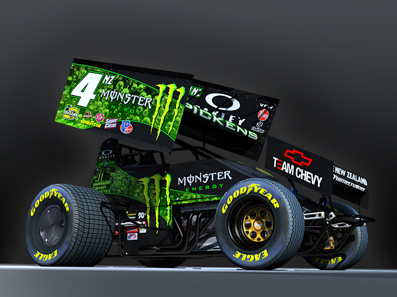 monster energy sprintcar by grangerdesign on deviantart. Black Bedroom Furniture Sets. Home Design Ideas