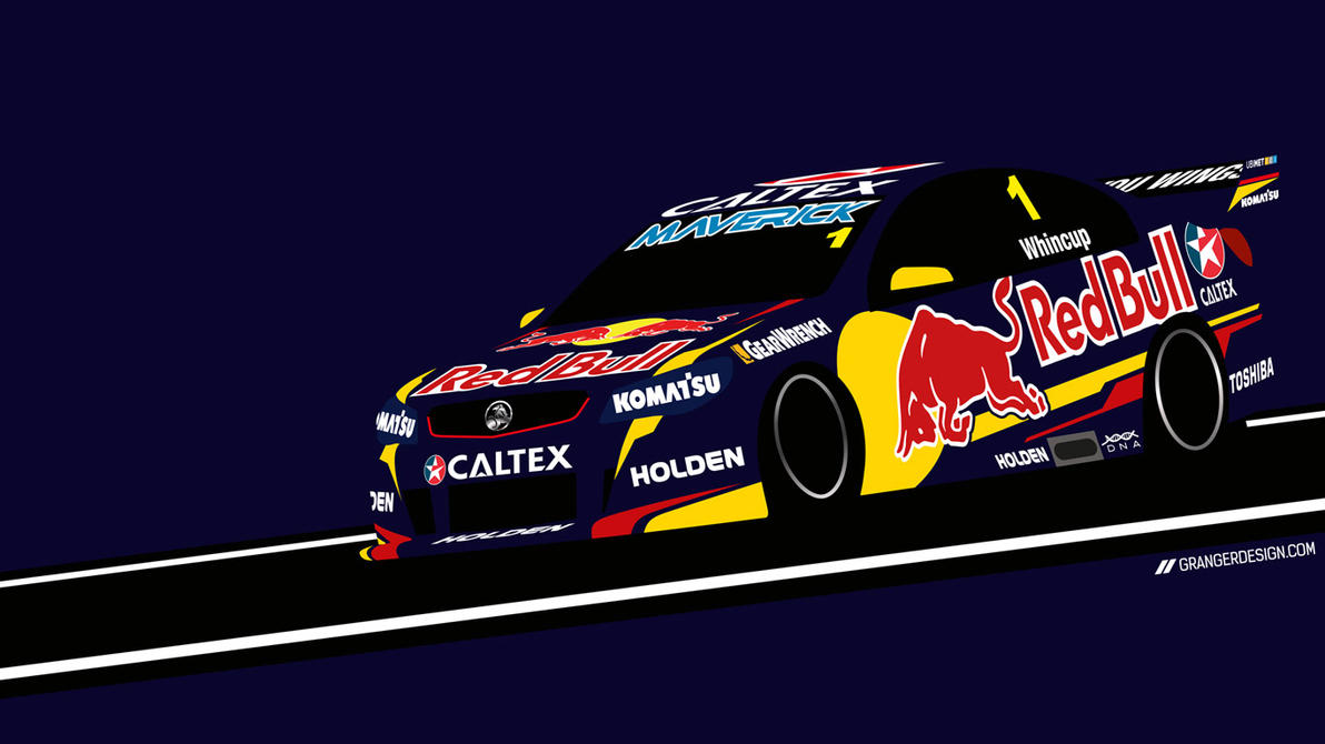 Jamie Whincup Wallpaper - Vector Illustration by GrangerDesign