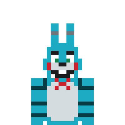 Fnaf Toy Bonnie Pixel Art By Creeperrick On Deviantart