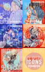 Icons -Fairy Tail and Shigatsu wa kimi no uso- by Cande1216