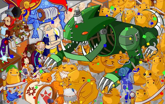 Zelda calendar contest entry by 8-Bit-Hobo