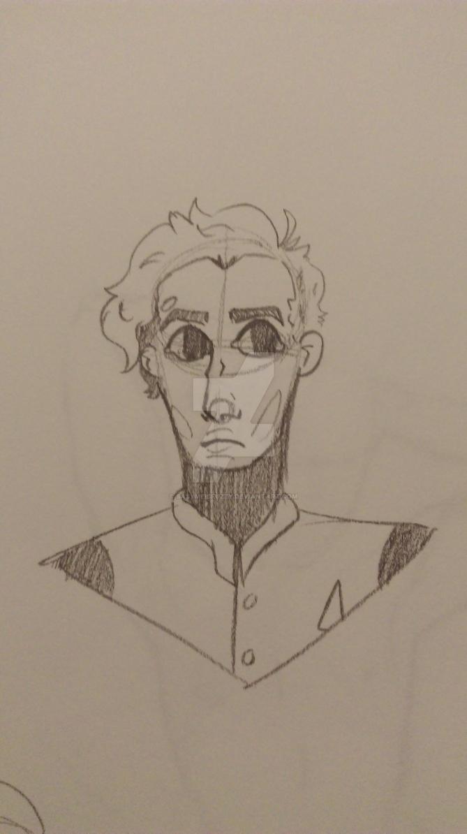 Robot pencil sketch by sasymeisfuzzy