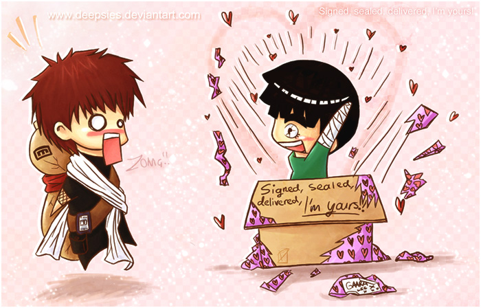 Lee and Gaara: Surprise by Deepsies on DeviantArt Gaara And Lee