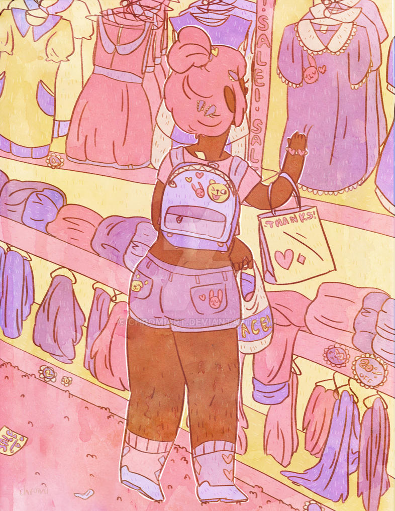 shopping by chromiart